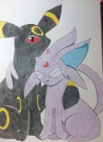 Umbreon X Espeon by Dream-a-Dream12
