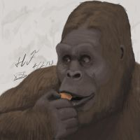 Bigfoot eating by XStreamChaosOfficial