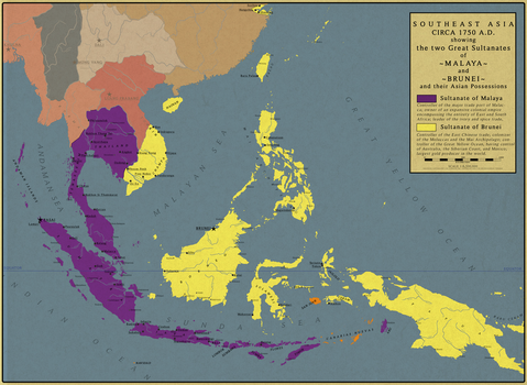 Southeast Asia in 1750 by Saluslibertatis