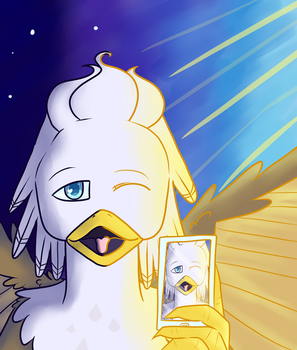 Selfie Quill by mangaJag