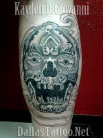 Tibetan Skull made of Skeletons by kayden7