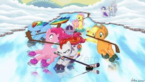 My Little Pony Hockey by hollowzero