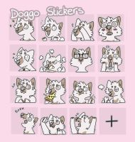 doggo stickers by ccartstuff