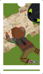 HTTYD Fan Tarot- Page of Wands by TorpidTiger