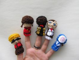 Team Finger Puppets by Valkyrie-5