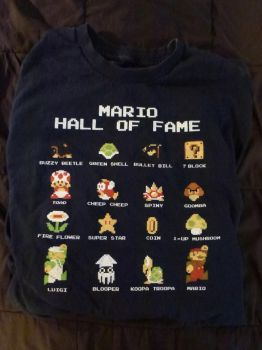 Super Mario Bros. Hall of Fame T-shirt by Spaceman130