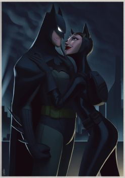 Batman and Catwoman by lenadrofranci