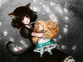 Dinah and Alice by Fiorina-Artworks