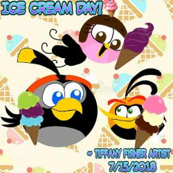 Angry Birds - Ice Cream Day 2018! by ANGRYBIRDSTIFF