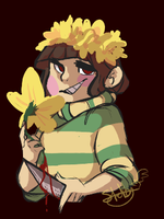 Chara Undertale: DailyDrawing #1 by Owllion