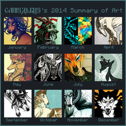 2014 Summary of Art by CanisAlbus