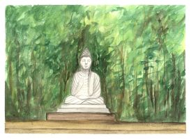 Tranquil Buddha by DragonTreasureArt