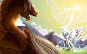 The flame guardian Atherion by Dreatos