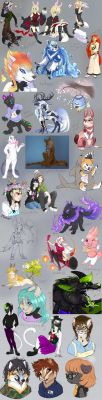 GO commission artdump - Aug 2015 by SadWhiteRaven