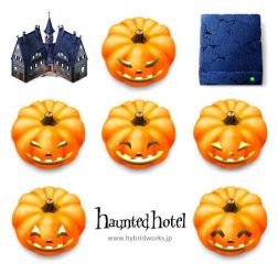 Haunted hotel icons for MacOS by HYBRIDWORKS