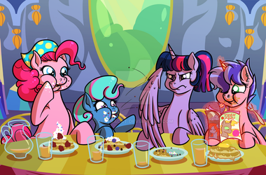 A Typical TwiPie Family Breakfast by AllyBACat