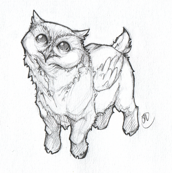 Owl Goat by Megume