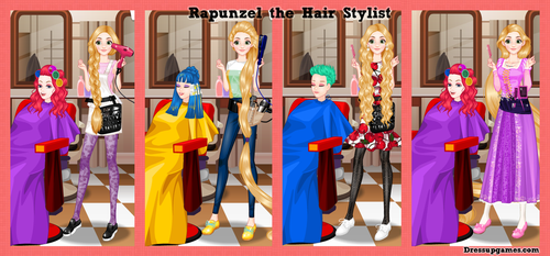 Rapunzel Hair Stylist Dress Up Game by DressUpGamescom