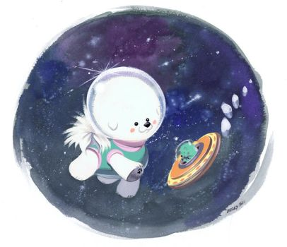 Space Bichon by Pocketowl