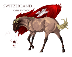 Horse Hetalia: Switzerland by MUSONART