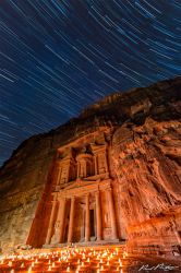 Petra by Night under the Stars by paulmp