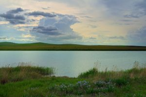 Evening on the lake by Korolevatumana