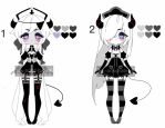 monochromatic demon nurse adoptable batch CLOSED by AS-Adoptables
