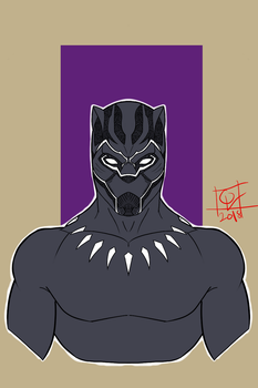 Black Panther by vhicsyago