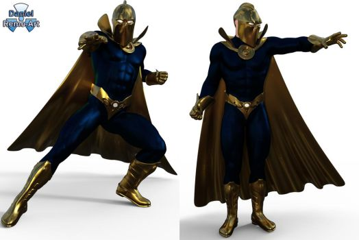 Iray - Heroes - Doctor Fate by Daniel-Remo-Art