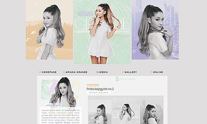 Ariana Grande Layout by Efruse