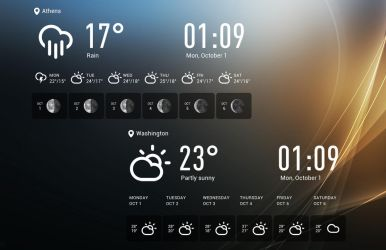 Transparent Time And Forecast for xwidget by Jimking