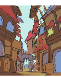 Scrapped Generic Fantasy Street by skittlefuck