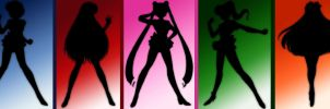 sailor scouts - shadows by iShody