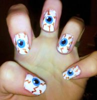 Eyeball Nails by Chelseapoops