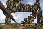 floating pipeline in the land of cubes by Agura-Nata