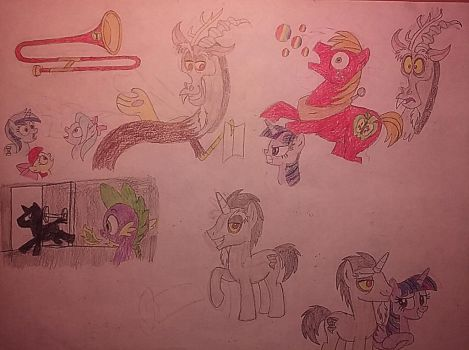 Scenes from Discord and the Ponyville Players 2 by jebens1