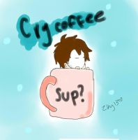 cry coffee by zky13
