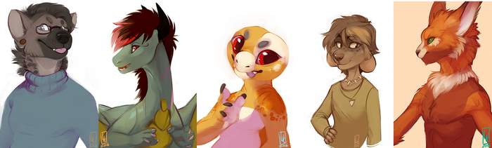 Halfbody Commissions by LiLaiRa