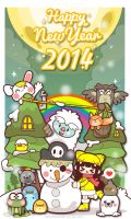 Happy New Yeah 2014! by kepalakardus