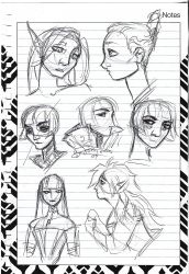 2017 Sketches 1 by DrMistyTang