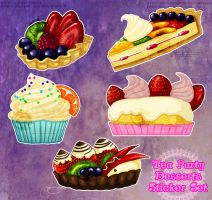 Tea Party Dessert Stickers by soulspoison