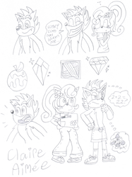 Crash and Coco Doodles by ClaireAimee