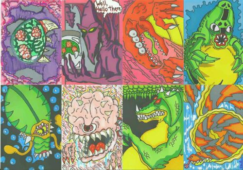 Super Metroid sketch cards  by Stackpo