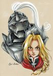 Elric Brothers - Fanart Full Metal Alchemist by CrisEsHer