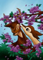DC - Bambi and Faline (color) by vanillacoke-disney