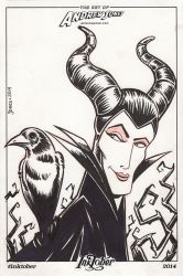 Inktober Day 7: Maleficent by AtlantaJones