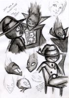 Demongo and Jack Sketching by Miskui