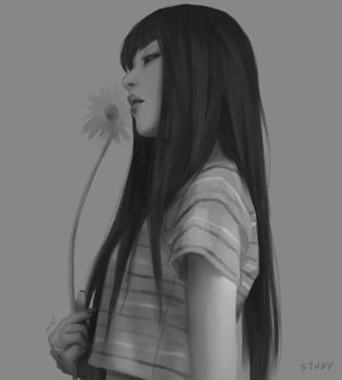 Girl with flower by chaosringen