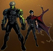 Hulkling and Wiccan by K-Bol
