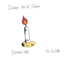 Candle (Inktober - day 16) by Nikithe9